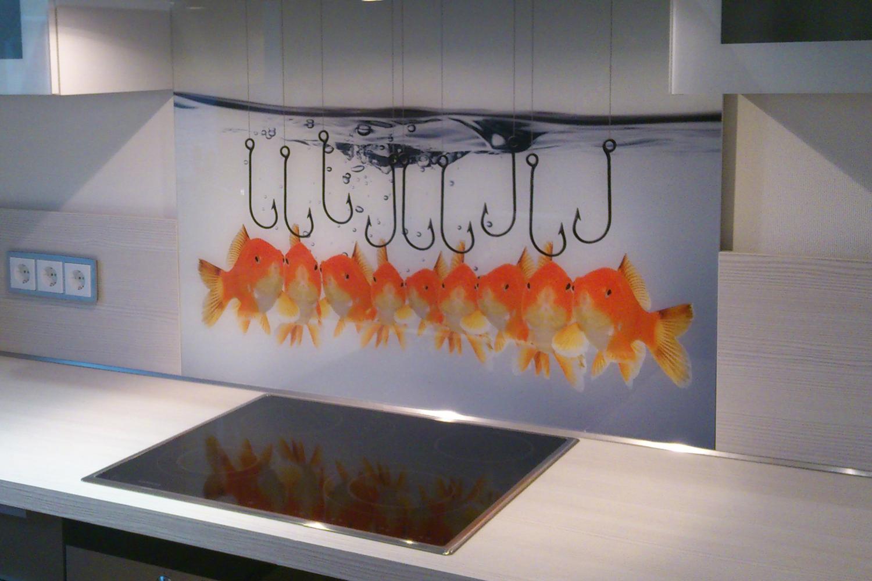 Kuchenruckwand Aus Glas