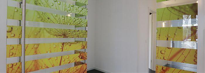 Glastür im Wohnraum